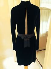 Genny Made in Italy black velvet dress IT 42 US 8 but fits like a US 2-4