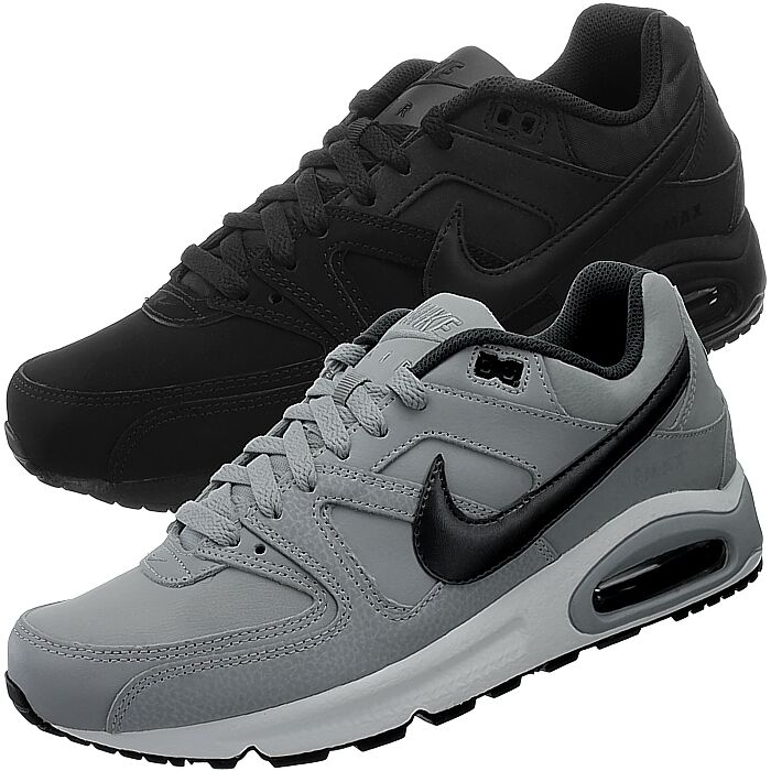 Nike Air Max Command Leather Hombre zapatillas Negro or Gris Hombre Leather 7f923c
