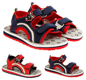 Boys-Pirate-Sports-Beach-Sandals-Open-Summer-Low-Wedge-Sz-Size-10-11-12-13-1-2