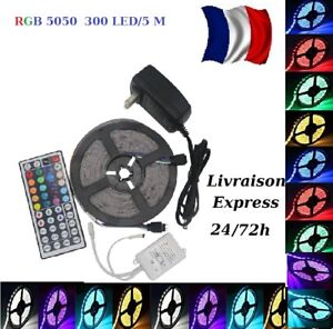 KIT-1-30-m-Bande-LED-Strip-flexible-RGB-Lumiere-Ruban-5050-SMD-Strips-livre-48-h