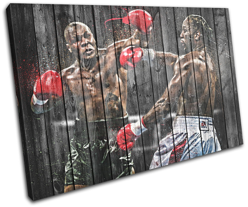 Mike Tyson Lennox Lewis Sports SINGLE TELA parete arte arte arte foto stampa d16241