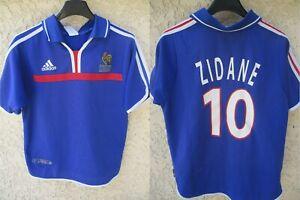 Détails sur Maillot Equipe de FRANCE Adidas ZIDANE Finale EURO 2000 vintage shirt trikot XS