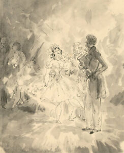 Harold Hope Read (1881-1959) - Pen and Ink Drawing, The Flirt