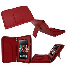 """rooCASE for Amazon Kindle Fire HD 7"""" (2012) Executive Leather Case RED Lot C12"""