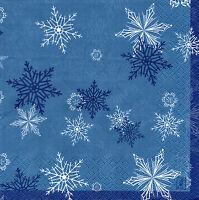 4 Motivservietten Servietten Napkins Tovaglioli Weihnachten Schneeflocken (927)