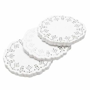 300-pcs-Artisanat-Ronds-Napperons-Dentelle-Papier-Gateau-Ornement-O6M6