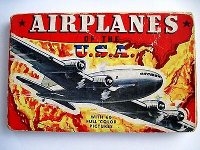 "Interesting Vintage Booklet Titled ""airplanes Of The U.s.a. Includes History Refreshing And Enriching The Saliva"