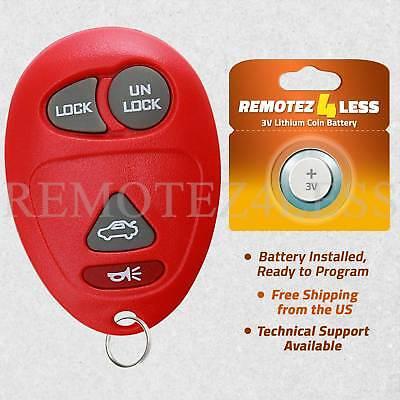 Keyless Entry Remote for 1999 2000 2001 2002 2003 Dodge Caravan Car Key Fob Red