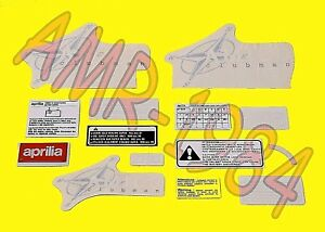 SERIE-ADHESIVOS-CALCOMAN-AS-APRILIA-AMICO-50-AZUL-1996-AP8237371