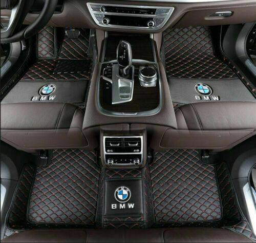 BMW GT Car Floor Mats - 3 Series 2013-2017 Sedan 4Doors - Black Red