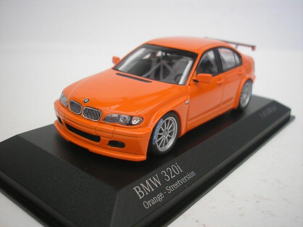BMW 320i e46 4 route version 2005 Orange 1 43 Minichamps 400052400 NEUF