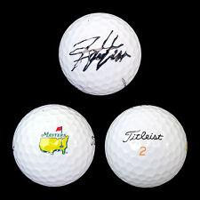 Hideki Matsuyama Signed MASTERS Titleist Golf Ball PGA Autograph COA w/ HOLO