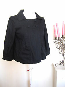 LADIES H&M SHORT SWING JACKET SIZE 10 BLACK BLAZER TOP BLOUSE 100 ...