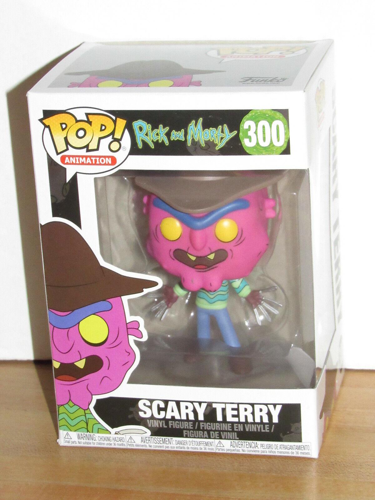 "SCARY TERRY Rick /& Morty Pop Animation 4/"" inch Vinyl Figure #300 Funko 2017"