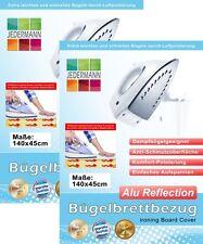 2 Stück Bügelbrettbezug Bügelbrett-Bezug Alu Reflection 140x45 cm silber Komfort