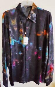 NEW-Men-039-s-Creme-De-Silk-Soft-Shirt-75-Rayon-amp-25-Silk-NAVY-COLOR