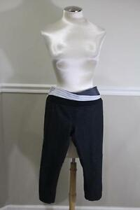 Lululemon-Athletica-Women-039-s-Grey-Capri-Yoga-Pants-Size-8