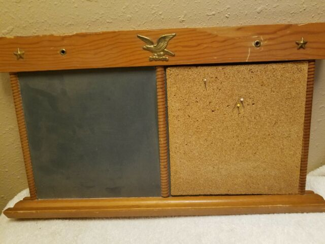 Vtg Mid Century Kitchen Chalkboard Menu Message Board Bill Letter old Wall  Decor