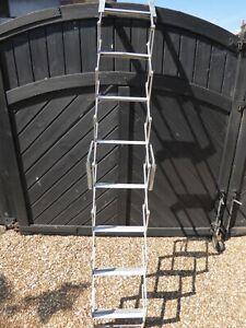 Used Gravity Randall Pakaway concertina loft ladder - 8 tread / 2M tall .28cm tr