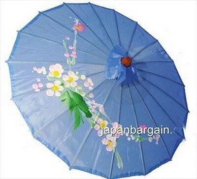 4 X JapanBargain S-2165, Japanese Chinese Umbrella Parasol 32-inch Diameter Blue