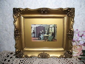 Framed-Victorian-Print-The-Sewing-School-by-David-Adolf-Constant-Artz-1837-1890