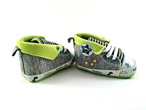 Baby Shoes Crib Sneakers Gray \u0026 Lime