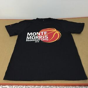 timeless design 6dbcb 38944 Details about Monte Morris Basketball Camp 2018 Iowa State Cyclones Denver  Nuggets shirt Sz S
