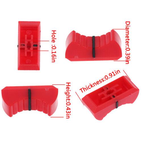 10 Stück Mixer Dimmtisch Straight Slip Potentiometer Fader Knob CapWG