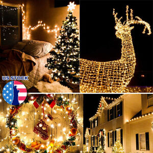 10-20-30M-100-200-LEDs-Connectable-LED-Fairy-String-Lights-Outdoor-Waterproof-US