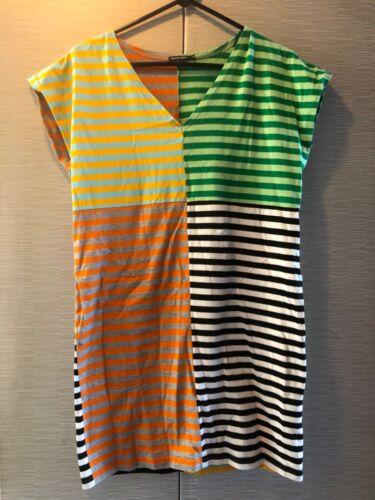 Marimekko dress with pockets bold stripe 80s style