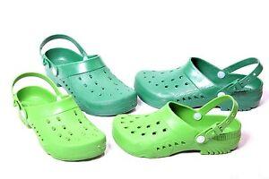 (R41) Damen Herren Gartenclogs Gartenschuhe Clogs Schuhe mit Fersenriemen Neu