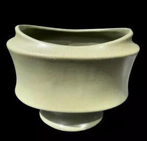 Floraline McCoy Pedestal Vase Planter Solid Matt Green Vtg USA Pottery ©1968 Gem