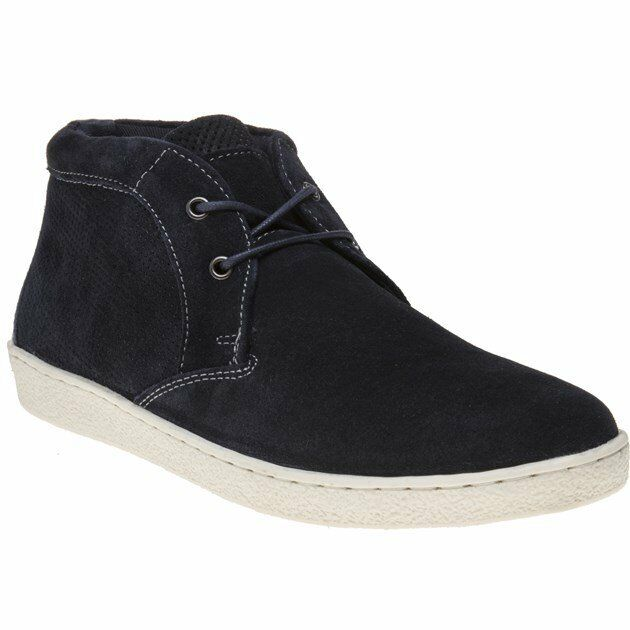New MENS RED TAPE NAVY CHELFORD SUEDE BOOTS CHUKKA