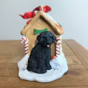 Portuguese Water Dog Ornament Gingerbread Dog House ...