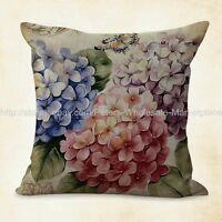 Us Seller, Cheap Pillows And Throws Hydrangea Vintage Flower Cushion Cover