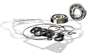 Yamaha-YZ-250-E-F-1978-1979-Engine-Rebuild-Kit-Main-Bearings-Gasket-Set-amp-Seals