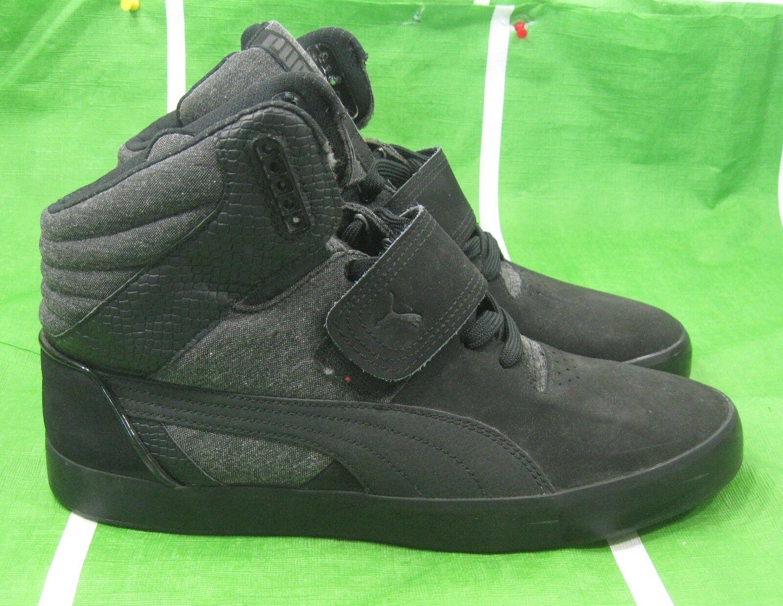 PUMA shoes Suburb Hi Top Strap Cham Men  355434 01 Medium Width black SIZE 11
