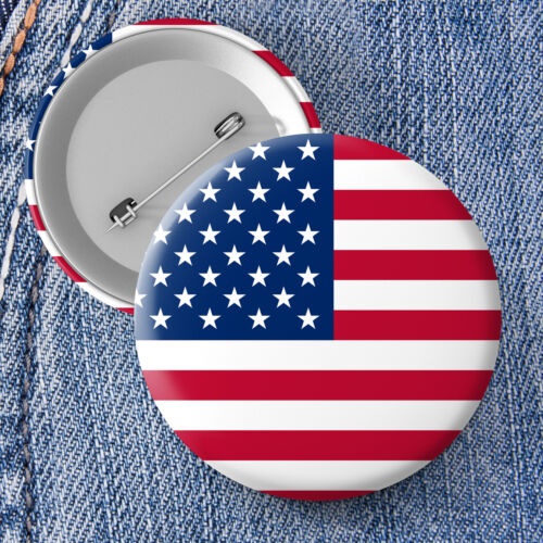 United States National Flag Button Pin Badge 25mm 45mm 58mm