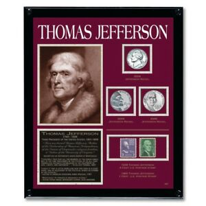 NEW-American-Coin-Treasures-Jefferson-Framed-Collection