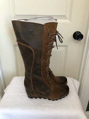 sorel tall lace up boot