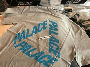 c01e48d92e65 PALACE SKATEBOARDS FW16 P3 XLARGE MARL GREY BLUE TEE T-SHIRT XL TRI ...