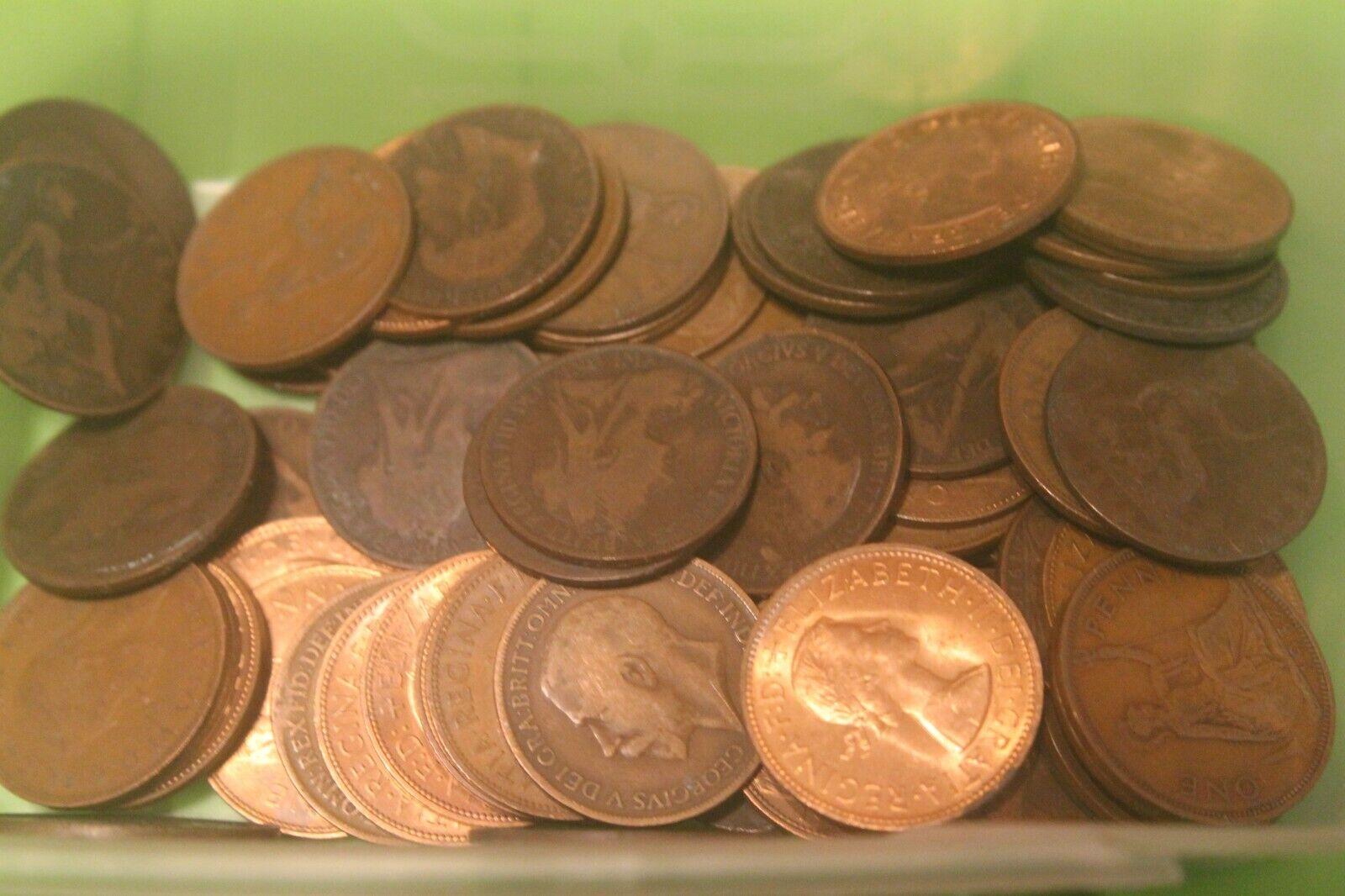 50 x 1d old penny allwin arcade / fruit machine coins