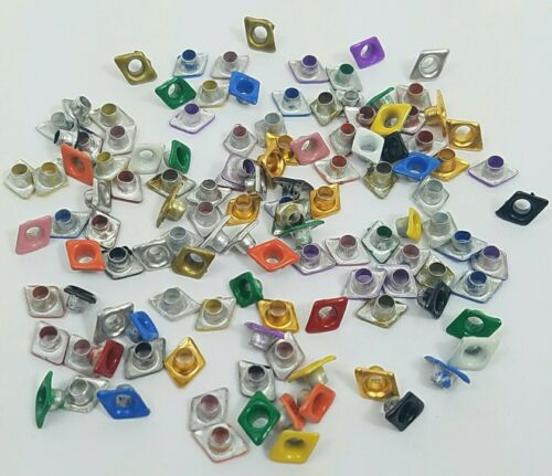 Scrapbooking Eyelets 120 Diamond Shape Embellishments Crafts 12 Clrs Stamping