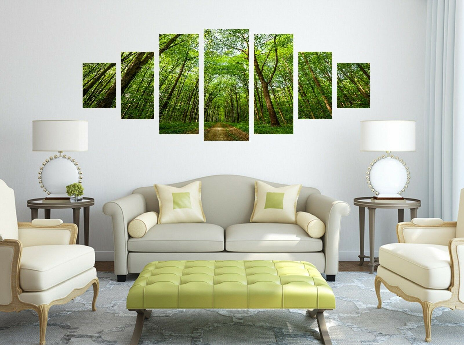 3D Green Forest Road Trees 126 Unframed Print Wall Paper Deco Indoor AJ Summer