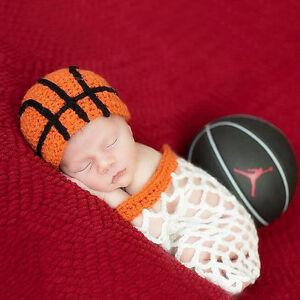 Crochet Newborn Photography Baby Boys Sport Knit Hat Sleepbag Photo Props Outfit