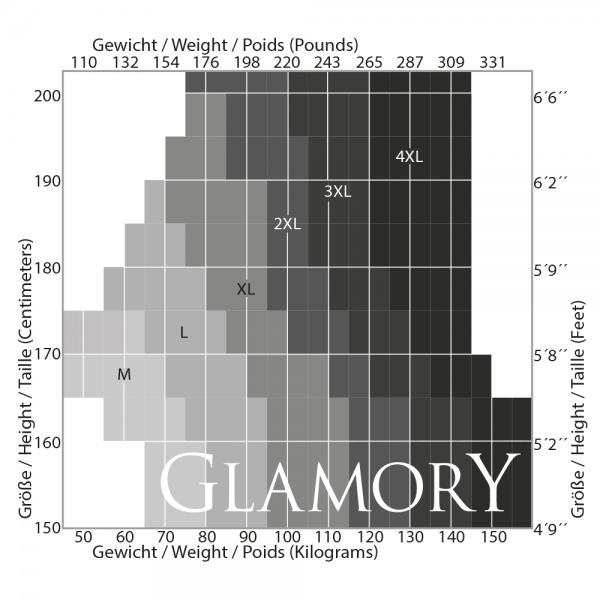 GLAMORY 50132 Delight 20 Strapsstrümpfe schwarz mit Naht Gr. 40 – 62