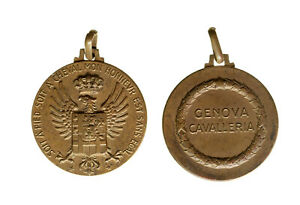 s1147-3-Medaglia-Genova-Cavalleria-Soit-a-Pied-Soit-a-Cheval-Mon-Honneur
