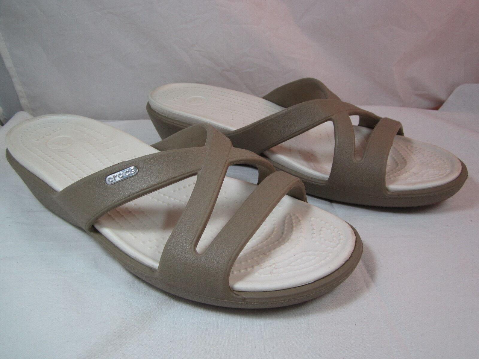 Womens Crocs Beige & Ivory Sandals  Shoes Sz 11   Sandals 2