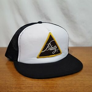 5a6b89f77c3ee Image is loading Vintage-Blatz-Beer-Embroidered-Patch-Logo-Snapback-Mesh-