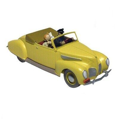 TINTIN /& SNOWY car figures LINCOLN ZEPHYR yellow convertible of HADDOCK 10 inch